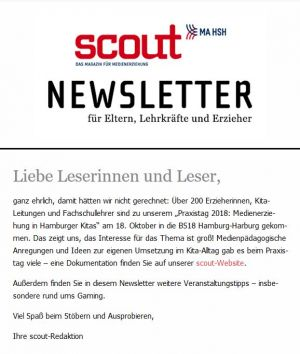 Screenshot des scout-Newsletters